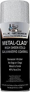 Metal-Clad High Sheen Cold Galvanizing Industrial Enamel Aerosol - 10.75 oz, (Case of 12)