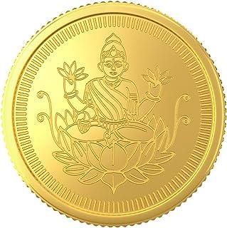 Joyalukkas 22k (916) 1 gm BIS Hallmarked Yellow Gold Precious Coin with Lord Lakshmi Design