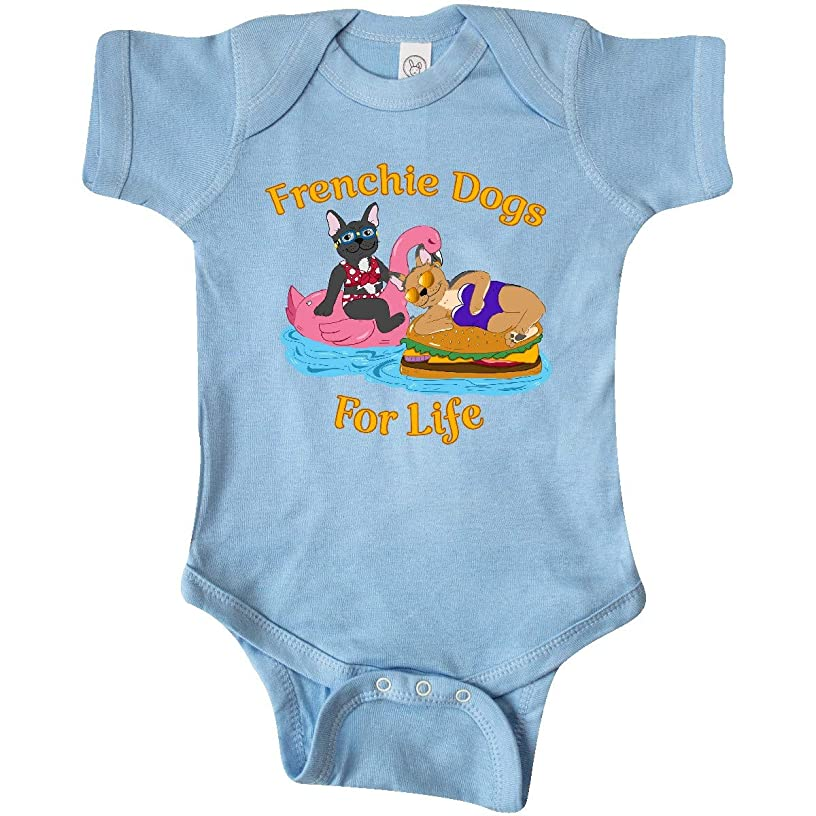 inktastic - Frenchie Dogs for Life-Cute French Bulldogs On Pool Infant Creeper