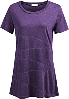 Women's Running Workout T-Shirt Blouse Casual Loose Short Sleeve Shirts Yoga Tops Activewear