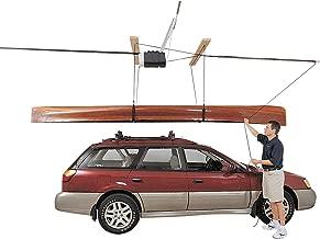 HARKEN SUP, Canoe, and Kayak Garage Storage Ceiling Hoist | 4 Point System | 3:1 Mechanical Advantage | Easy Lift, Single-Person, Hanger, Pulley, Paddleboard, Boat