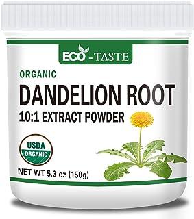 Organic Dandelion Root 10:1 Powder, 5.3oz, Dandelion Root Extract, Vegan Friendly, Non-GMO
