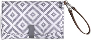 OiOi Travel Portable Baby Diaper Changing Pad + Mat - Grey Aztec