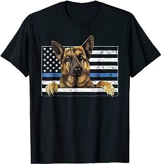 Thin Blue Line K9 German Shepherd TShirt Dog Police Officer