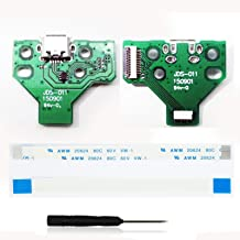 2 Set X USB Charging Port Socket Board JDS-011 JDS 011 for Sony Playstion 4 PS4 Controller + 12 Pin Ribbon Cable
