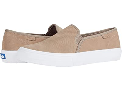 Keds Double Decker Perf Suede (Taupe 1) Women