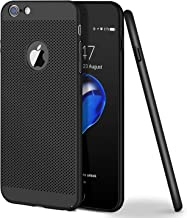iPhone 6 Case, iPhone 6S Case, WLKSAM Stylish Ultra Slim Anti-Scratch Shockproof Hard Heat Radition Lightweight Case for iPhone 6 / 6S Apple Cover Accessiess (4.7 inch) (Black)