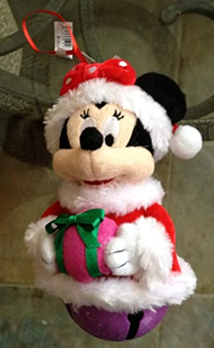 Disney Parks Minnie Mouse Plush Large Jingle Bell Ornament by Disney