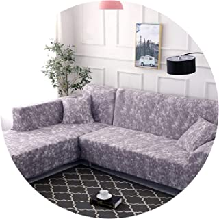 1 Piece/ 2 Pieces Geometric Pattern Sofa Cover for L Shaped Sectional Sofa Couch Cover Sofa Towel cojines decorativos para Sofa,Color 8,1 Seater and 4 Seater
