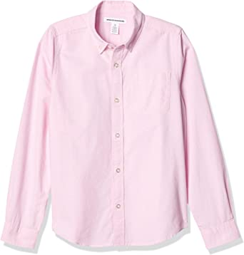 Amazon Essentials - Camisa de manga larga hecha de tela Oxford para niño