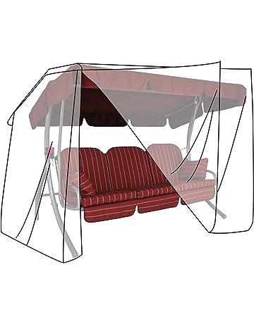 patio parco cortile per dondolo da giardino con seduta imbottita Copertura per altalena Zchui altalena a 3 posti per giardino parasole in rattan impermeabile balcone 3 colori