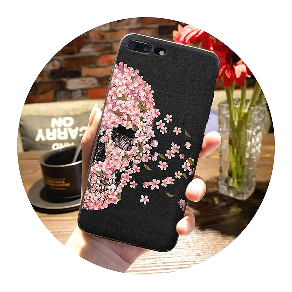 Mexican Skull Girl Tattoo Art Top Detailed Popular Case for iPhone 7plus X XS XR XS MAX 6 6S 7 8 8 Plus 5 5S case,5,for iPhone 5 5s SE