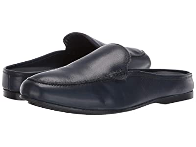 CARLOS by Carlos Santana Planeo Slide (Navy Blue Calfskin Leather) Men