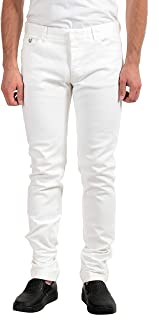 Gianfranco Ferre Men's White Stretch Slim Jeans US 36 IT 52
