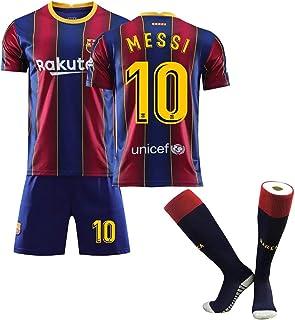 CFLL Men`s Barcelona Soccer Jerseys Sports Team Training Uniform Shirts and Shorts Set, Barcelona Jersey Soccer T Shirt 20...