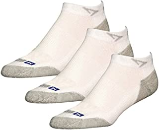Drymax Socks Run Mini Crew - White/Gray W5-7, M3.5-5.5 - 3 Pack