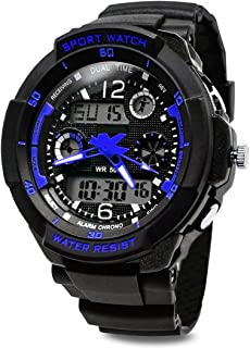 TOPCABIN Digital-analog Boys Girls Sport Digital Watch with Alarm Stopwatch-50m Water Proof