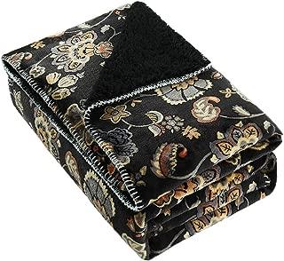 Best black floral throw blanket Reviews