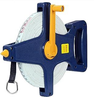 Deuba Cinta métrica de 50 m | Cinta métrica | medición exacta | Fibra de vidrio | Práctico y fácil de usar | Uso universal |