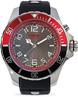 KYBOE! Quartz Stainless Steel and Silicone Watch (Model: Silver Awe)