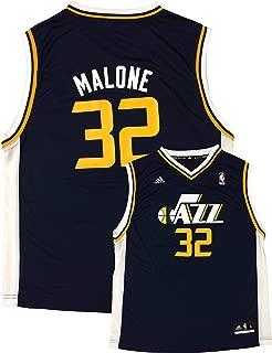 adidas Karl Malone Utah Jazz #32 Navy Youth Away Replica Jersey
