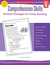 Comprehension Skills: Short Passages for Close Reading: Grade 5