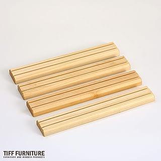 TIFF カードスタンド ボードゲーム カードゲーム 25cm 4本セット ナチュラル 国産 ブランド材 越後杉製