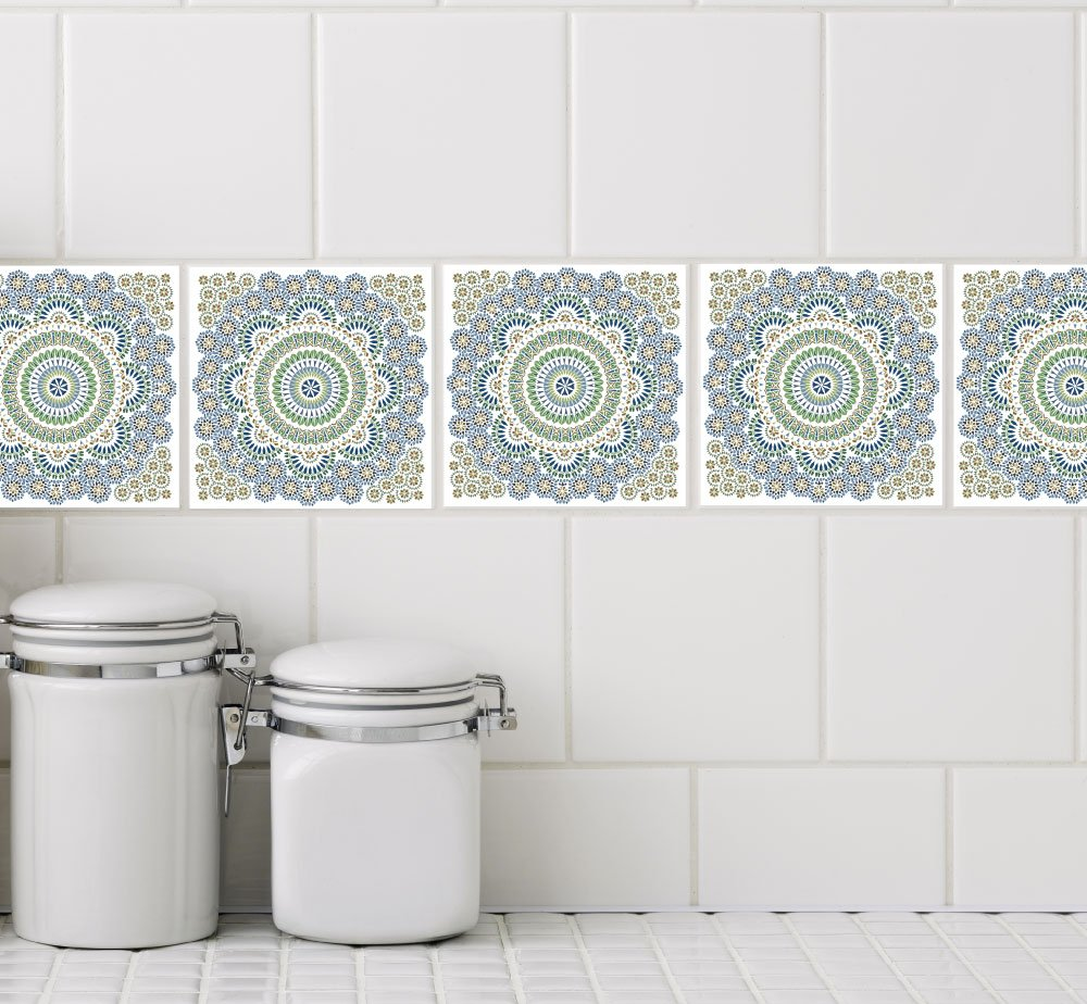 - Amazon.com: Odhams Press Multicolor Mosaic Tile Decals For 4
