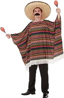 Saltillo Serape Men's Halloween Costume Mexican Fiesta Mariachi Poncho Outfit