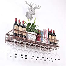 Wine Rack Wine Racks Kitchen Storage Organisation Wine Glass Holder Wall Holder Made of Metal | Wall Shelf Storage Rack Wa...