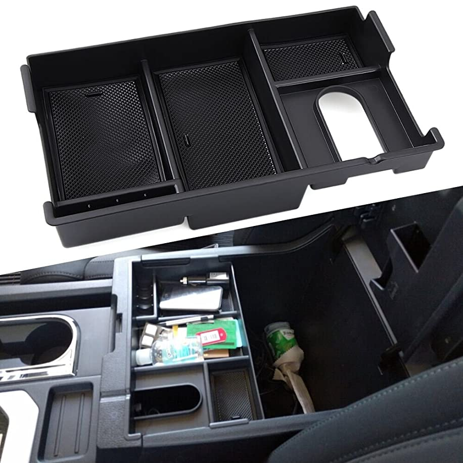 9 MOON Center Console Insert Organizer Tray Fit Toyota Tundra 2014-2017, Armrest Secondary Storage Box Glove Pallet Car Accessories