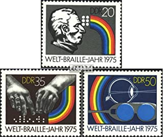 DDR 2090-2092 (Complete.Issue) 1975 Braille (Stamps for Collectors) Health
