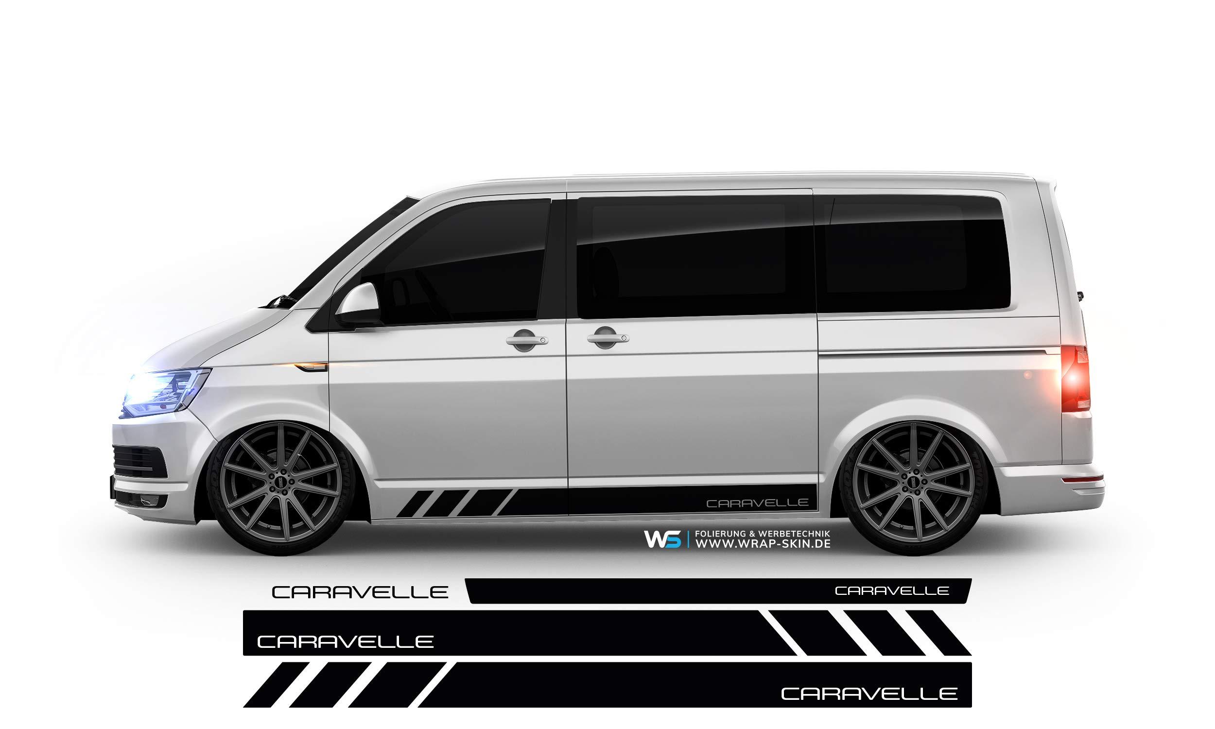 WRAP SKIN - Juego de adhesivos laterales CARAVELLE para VW T4 T5 T6, WS-03-08-10037-V: Amazon.es: Coche y moto