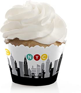 Big Dot of Happiness NYC Cityscape - New York City Party Decorations - Party Cupcake Wrappers - Set of 12