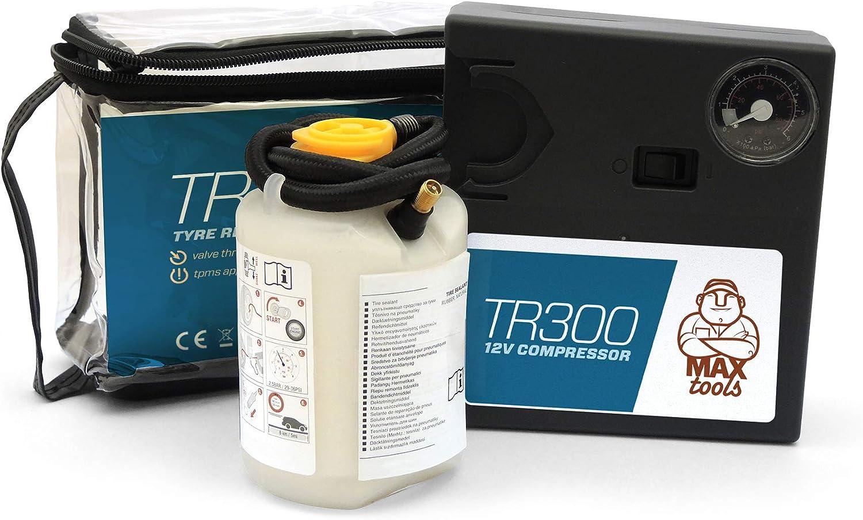 MAXTOOLS Kit de reparación de neumáticos TR300, (sin retirada de válvula) para vehículos todoterreno (SUV)