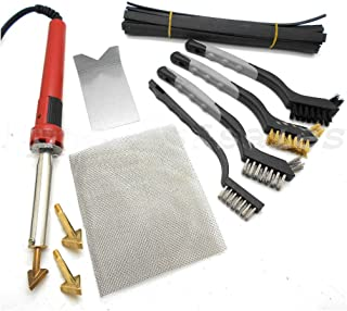 80W Iron Plastic Welding Kit TPO TEO PP Rod Mesh Auto Car Boat Bumper Repair Kit