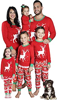 Christmas Family Matching Boys Girls Pajamas Santa's Reindeer Soft Cotton PJs Set