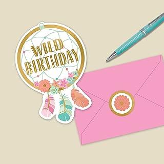 Amscan Boho Birthday Girl Post Card Invitations, 2-Pack