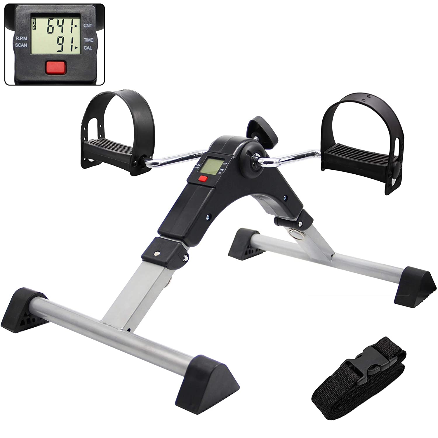 Limited time for free shipping Hausse Folding Exercise Peddler Portable El Sale item Exerciser Pedal with