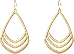 Vince Camuto Chevron Drop Earrings