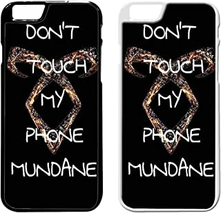 Mortal Instrument Dont Touch My Phone Mundane iPhoneケース RI ブラック XMW027UF04493