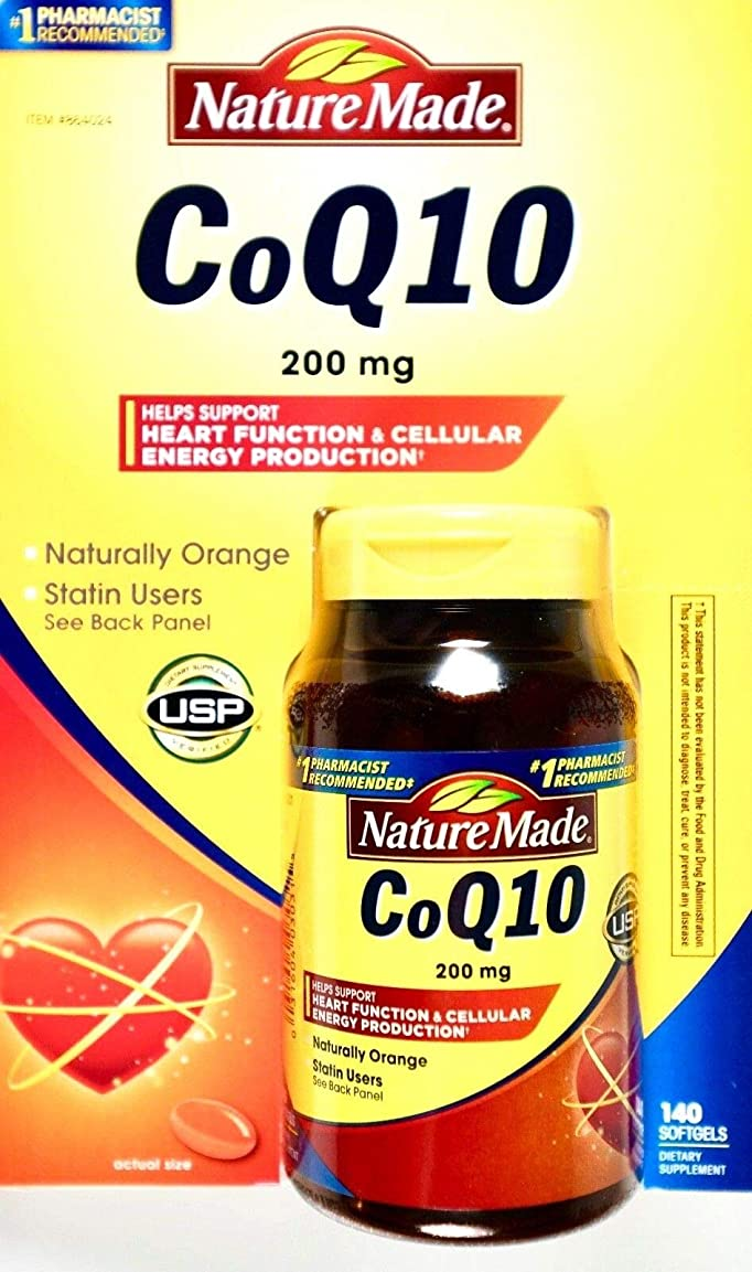 やりがいのある爆弾衣服Nature Made CoQ 10 Liquid Softgels Naturally Orange 200 mg Value Size -140CT by Nature Made