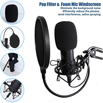 USB Microphone with Studio Headphone Set 192kHz/24 bit MAONO AU-A04H Vocal Condenser Cardioid Podcast Mic for Mac and...