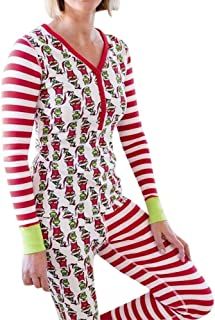 Limsea Family Matching Xmas Pajamas Set Women Kid Dad Adult PJs Fun Sleepwear Nightwear