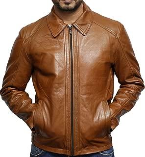 Da Uomo X-Men pelle di pecora vera Biker Cafe Racer Leather Jacket Slim Fit Retrò XS-5XL
