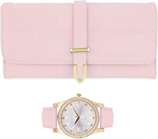 Ladies Wallet Sets With Matching Watch -Blush Pink