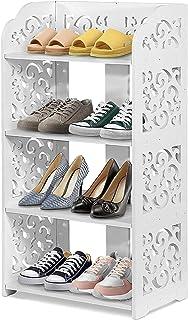 Armoire de rangement pour étagères à chaussures, organisateur de rangement pour étagère d'angle à 4 niveaux, présentoir de...