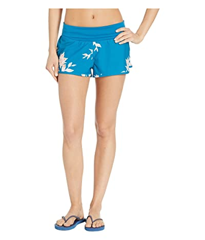 Roxy Endless Summer Printed Boardshorts (Mykonos Blue Eglantine) Women