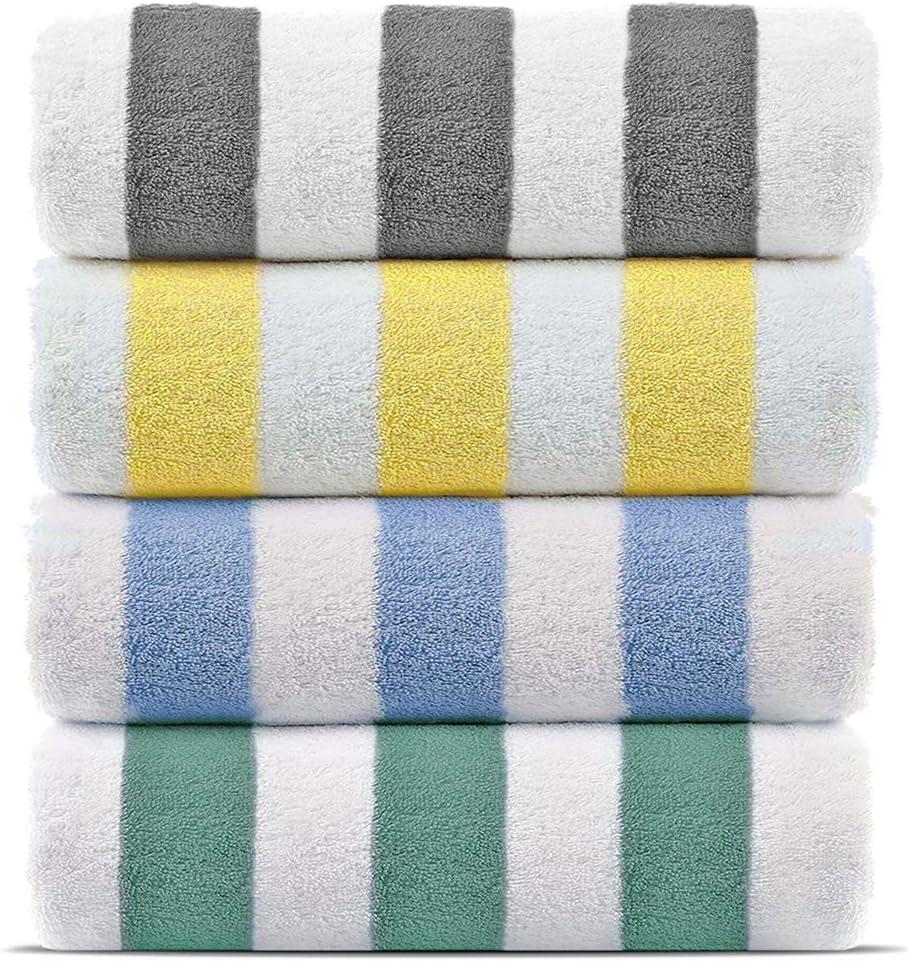 Premium Quality 100% Turkish Cotton Cabana Thick Stripe Pool Beach Towels