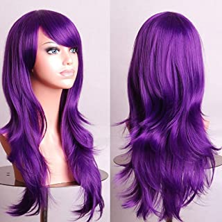 crazy purple wig